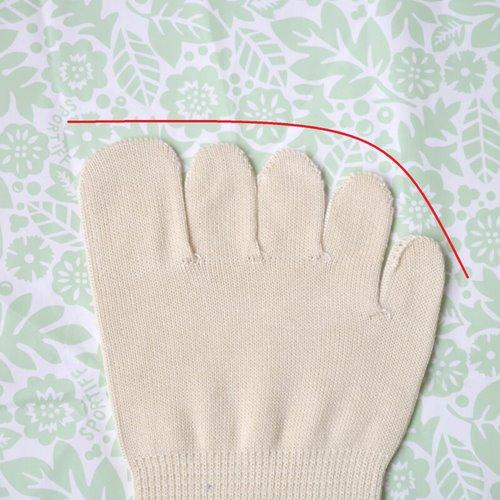 シルクを綿で守る5本指ソックス_靴下指先_up